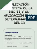 Aplicacion de La NIC 11