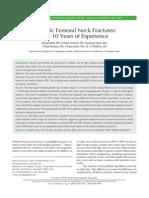 2. Pediatric Femoral Neck Fractures