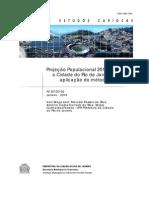Projeção Populacional 2013-2020 Cidade do Rio de Janeiro. métodoAiBi