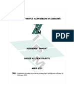 IPMZ Higher Dip Assignment Booklet April 2013