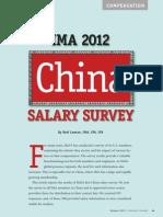 Survey 2012 IMA