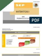 Matemáticas I  CON COMPETENCIAS