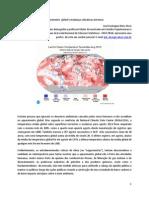Aquecimento  global e mudanças climáticas extremas