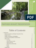 FY 2014 V3 Proposed Budget Presentation092413 - Final
