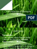 Plant Nutrition & Transport