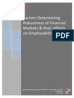 Financial Markets Robustness and Employment