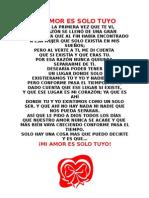 Mi Amor Es Solo Tuyo