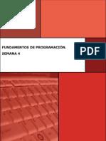 Fundamentos de Programación Semana 4 Manual