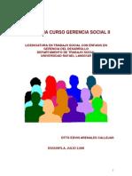 Antologia Gerencia Social II