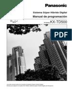 Manual de Programacion KXTD500