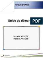 Guide de démarrage Touch board