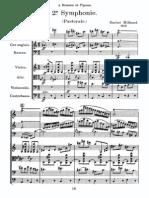 Milhaud - Symphonie de Chambre No. 2 ('Pastorale'), Op. 49 (Score)