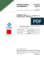 NTC-ISO5667-6 Calidad del agua. Muestreo. Guía para el muestreo de aguas de ríos y corrientes
