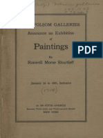 Roswell Morse Shurtleff Art Show 1914-The Folsom Galleries