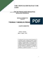 MÓDULO Syllabus DE  TEORÍAS Y MODELOS PEDAGÓGICOS - 2013