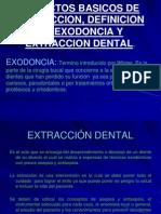 Exodoncia m