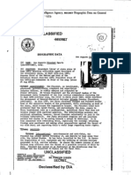 DIA Biographic Report on Pinochet