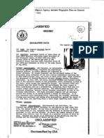 DIA Biographic Report on Pinochet