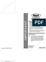 Manual Euro-Pro Shark V1950 Shark VX3 Cordless Rechargeable Floor-And-Carpet Cleaner