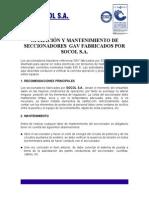 manual de operación y mantenimiento GAV