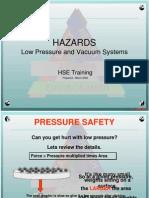 Week 5 Pressure Safety
