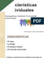 Características Individuales