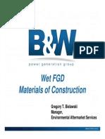 4-Wet FGD Materials of Construction