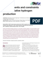 Developments and Constraints in Fermentative Hydrogen Production