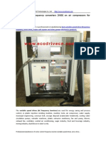 Solution of AC Frequency Converters (VSD) on Air Compressors for Energy Saving