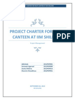 Project Charter of Night Canteen