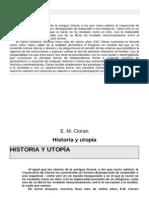 Cioran - Historia y Utopia