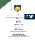 Btl-dissertation Final Report