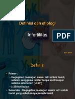 Definisi Dan Etiologi Infertility