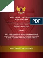 PERBAWASLU NOMOR 15-2012