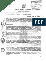 Resolucion R Nro 1573 2012 CU UNFV