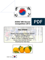 kisac ms soccer guidelines and fixtures 2013