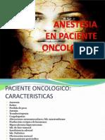 Anestesia Enpaciente Oncologico