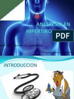 Anestesia en Cirugia de Tiroides