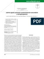 Edema Agudo Pulmonar Postextubacion Secundario a Laringoespasmo