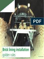 Brick Lining Installation-Golden Rules