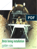 Brick Lining Installation-Golden Rules