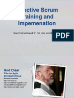 Effective Scrum Training and Implemenation