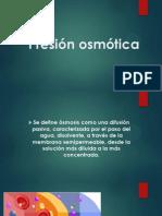 Presión osmótica