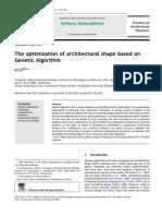 The Optimization of Architectural Shape Based on Genetic Algorithm