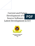 Current and Future Development of Open Source Software and Latest Development in ICT