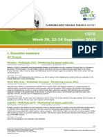 Communicable Disease Threats Report 28 Sep 2013