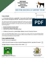 STVS Admission Form 2013 (1) (1)