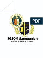 JGSOM Sanggu Majors & Minors Manual