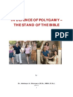 In Defence of Polygamy - The Stand of the Bible