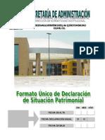 Formato Unico Declaracion Patrmonial